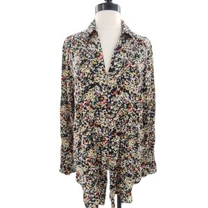Maeve charming floral button up top large